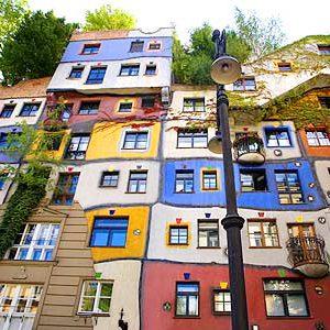 Hundertwasser - Сгради във Виена