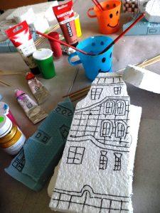 Hundertwasser - очертаване и изрязване